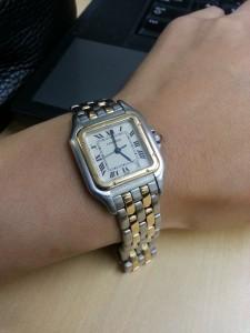 カルティエ,Cartier,パンテール,コンビ,腕時計