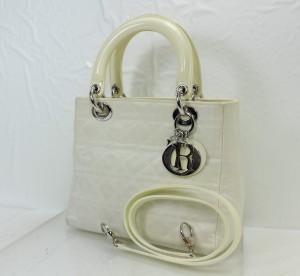 クリスチャンディオール,Christian Dior,カナージュ,白,バッグ