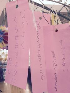 七夕,笹,短冊,願い事