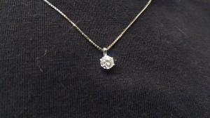 ネックレス,ダイヤモンド,ティファニー爪,6本留め,ブランド楽市