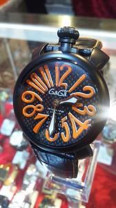 ガガミラノ,GaGa MILANO,腕時計,マヌアーレ48mm,手巻き,牛革ベルト,ブランド楽市