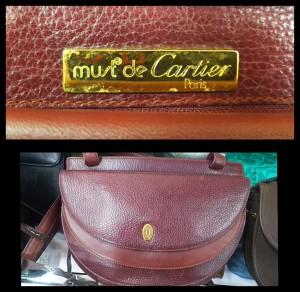 カルティエ,Cartier,ショルダーバッグ,ボルドー,マスト ドゥ カルティエ パリス