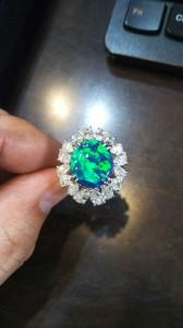 貴金属,買取,宝石,指輪,リング,ブラックオパール,天然石,ダイヤモンド,4.23ct,ブランド楽市