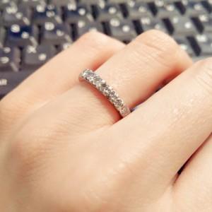 貴金属,指輪,リング,ダイヤモンド,リフォーム,セミオーダー,ハーフエタニティ,pt900,私物