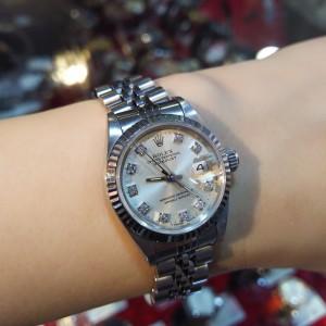 ロレックス,ROLEX,腕時計,デイトジャスト,SS,ホワイトゴールド,69174G,旧ダイヤ,高価買取,ブランド楽市