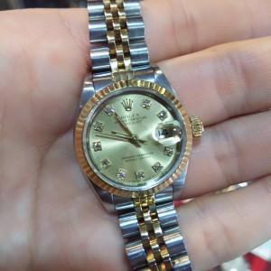 ロレックス,ROLEX,腕時計,デイトジャスト,レディース,コンビ,SS,K18,10P,旧ダイヤ,69173G,高価買取,ブランド楽市