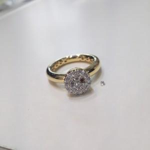 指輪,リング,K18,石取れ,ダイヤモンド,修理