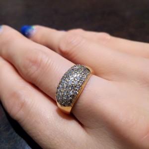 金,指輪,リング,ダイヤモンド,メレ,パヴェ,1ct,母の私物,買取,サイズ直し