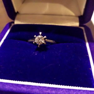 婚約指輪,リング,pt900,0.369ct,ダイヤモンド,立て爪,買取