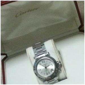 カルティエ,Cartier,腕時計,パシャC,GMT,買取実積,ブランド楽市