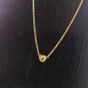 ネックレス,貴金属,プチ,ダイヤモンド,金,K18,ブランド楽市