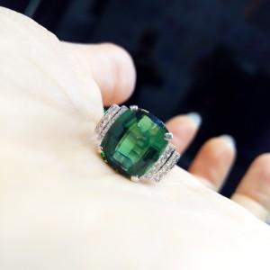 グリーントルマリン,宝石,ジュエリー,指輪,リング,高価買取,ブランド楽市