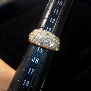 サイズ直し,指輪,リング,パヴェ,ダイヤモンド,金,宝石,ジュエリー,14号,ビフォー,ブランド楽市