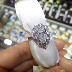 ダイヤモンド,ペアシェイプ,しずく型,指輪,リング,買取強化,駒沢店