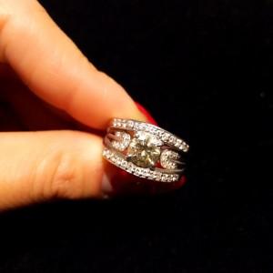 宝石,指輪,リング,ダイヤモンド,1ct,メレダイヤ,ブランド楽市,買取,高価買取