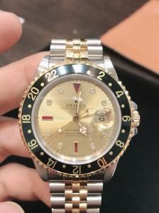 腕時計,ブランド,ロレックス,ROLEX,GMTマスターⅡ,16713,S番,8Pダイヤ,3Pルビー,シャンパンゴールド,稀少,レア,高価買取,ブランド楽市,吉祥寺店