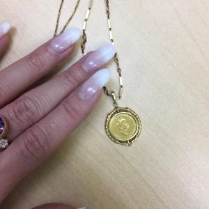 ゴールド,金,K18,貴金属,ネックレス,コイン,チェーン,駒沢店,買取,販売,専門店,無料査定