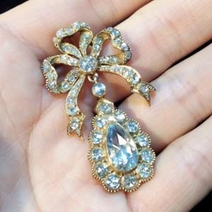 買取,ネックレス,トップ,金,宝石,ダイヤモンド,ローズカット,アンティーク,ブランド楽市,赤羽店