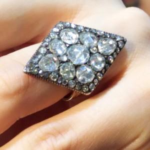 買取,指輪,リング,宝石,ダイヤモンド,シルバー,ローズカット,アンティーク,ブランド楽市,赤羽店