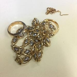 金,ゴールド,地金,ネックレス指輪,リング,切子,貴金属,買取,ブランド楽市,駒沢店