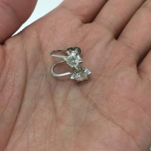 ダイヤモンド,イヤリング,立て爪,リフォーム,作り直しお直し,リメイク