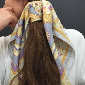 スカーフ,春,アレンジ,ブランド,エルメス,HERMES
