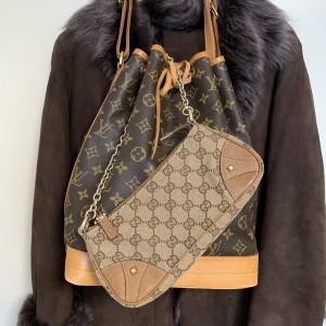 ファッション,上着<アウター,コート,茶色,バッグ,ノエ,GG,アクセサリーポーチ