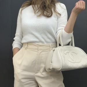 白,バッグ,洋服,ファッション,トレンド
