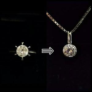 ジュエリー,リフォーム,ダイヤモンド,立て爪,指輪,リング,ネックレス,母から子,宝石,貴金属,お直し,ブランド楽市,吉祥寺店